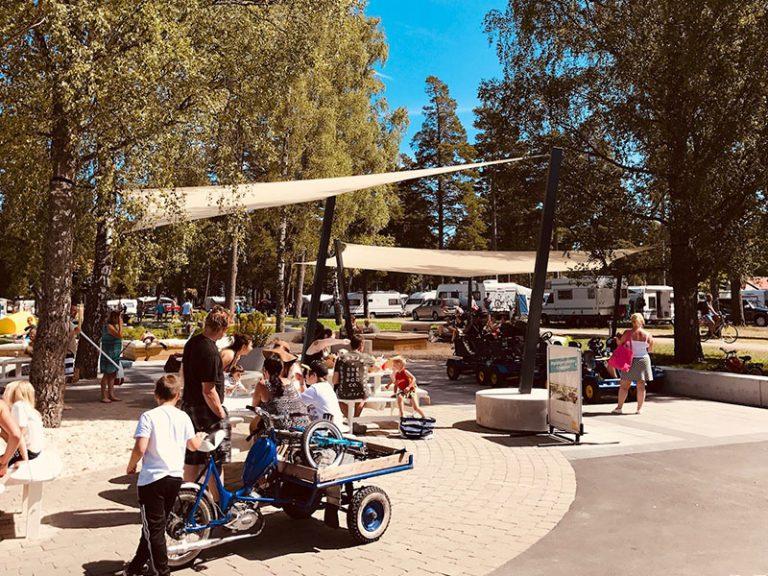 Solsegel camping